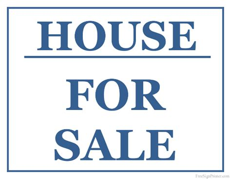 house for sale sign printable house for sale sign