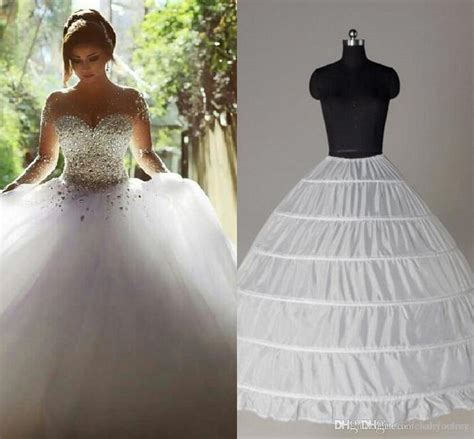 Wedding Dress Petticoat top quality gown 6 hoops petticoat wedding slip