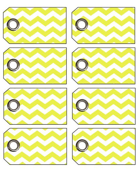 printable labels yellow doodlecraft freebie week chevron gift tags with eyelets