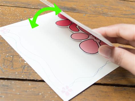 How To Make A Paper Flower Card - how to make a pop up flower greeting card with pictures