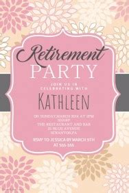 Retirement Poster Templates Postermywall Free Retirement Invitation Flyer Templates