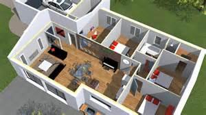 plan moderne 3d maison moderne