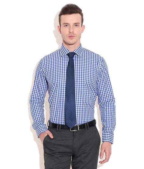 tie rack blue check shirt with blue tie set of 2