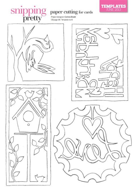 Cardmaking And Papercraft Free Downloads - paper cutting for cards free card downloads