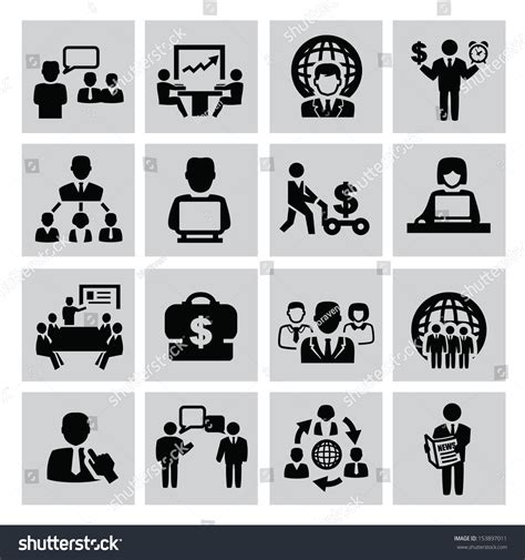 office and business vector icons set on gray royalty free stock images image 33973149 vector black business icon set on stockvector 153897011
