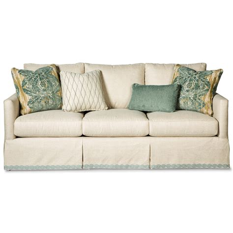 paula deen furniture sofa paula deen by craftmaster p762800 skirted sofa with ribbon
