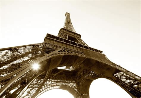 Wallsticker Uk50x70 Wall Sticker Black Eiffel wall mural wallpaper eiffel tower sepia photo