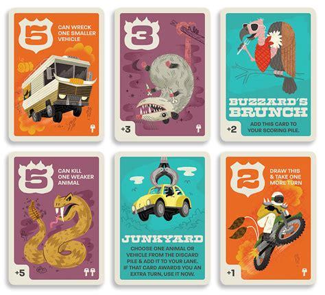 layout card game roadkill rivals card game matt graff art director