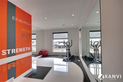 home design center orange custom houses contemporary home gym edmonton by