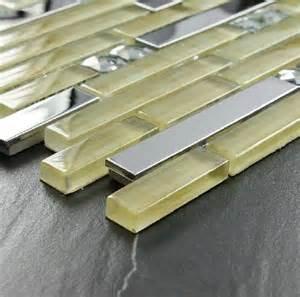 interlocking stainless steel tiles glass mosaic kitchen