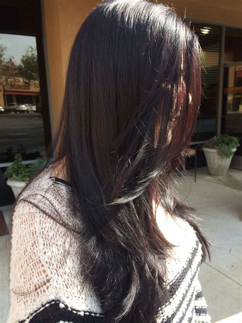 feathered and layered hairstyles on dark brown hair 17 best images about long layers on pinterest korean