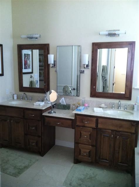 bathroom cabinets with knee space split vanities with a knee space master bathroom vanities and spaces