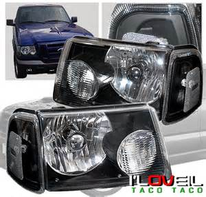 2001 Ford Ranger Headlights 2001 2008 Ford Ranger Black Housing Headlight Corner