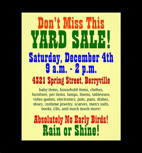 20 Best Yard Sale Flyer Templates Psd Designs Free Premium Yard Sale Flyer Template Dtk Templates Garage Sale Sign Template Word