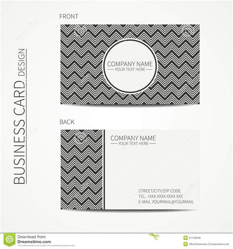 Line Card Template Design by Geometric Monochrome Business Card Template With Vector