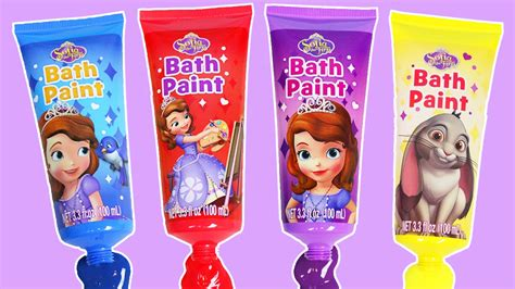 sofia the first bathroom sofia the first friends learn colors with bath paint youtube
