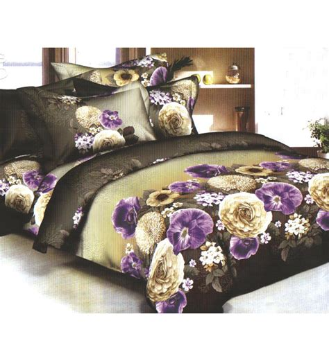 3d Bed Sheets by Lwf Marigold Flower Printed 3d Bedsheet Set By Lwf