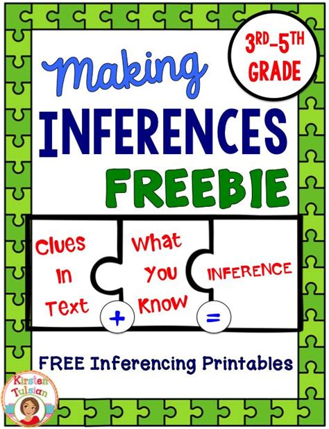printable reading games for 5th grade free inferences printables ready to use inferences