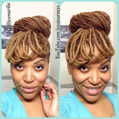 loc style tutorial 8 faux bangs styles youtube 1000 images about locs wedding formal styles on