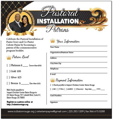 Christian baptism certificate template un mission pastors installation service program yelopaper Image collections