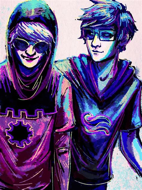 homestuck awesome drawings dave strider and john egbert homestuck yo somebody find