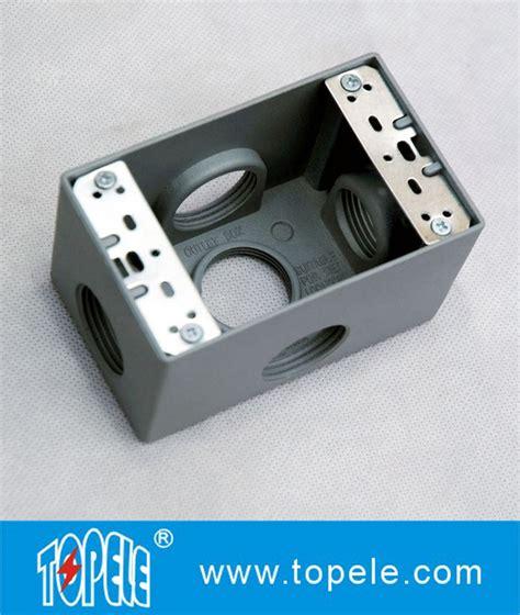 Moksa Box Lubang Dua die cast aluminium weatherproof box 3 holes 5 lubang tunggal outlet box die cast logam