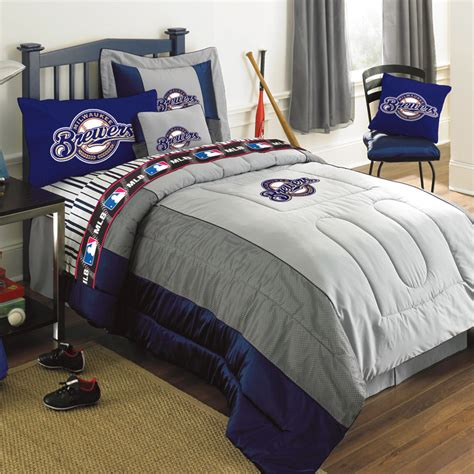 twin size bed comforter milwaukee brewers authentic mlb team jersey bedding twin