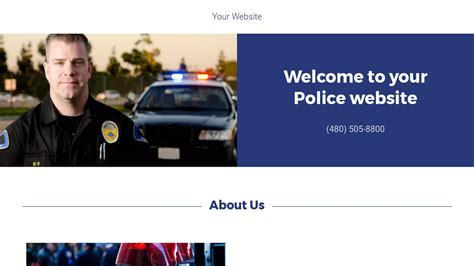 templates for police website police website templates godaddy