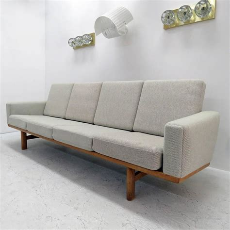 hans wegner 236 sofa hans j wegner sofa model ge 236 4 at 1stdibs