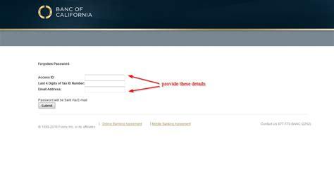 Email Address Password Finder Banc Of California Banking Login Login Bank