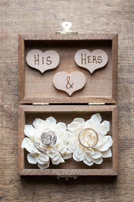 Ring Bearer Pillow Box by Ring Bearer Box Shabby Chic Rustic Wedding Decor Ring