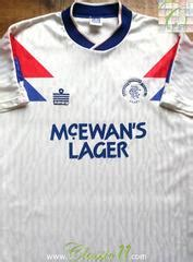 Glasgow Rangers Away 1987 1990 Jersey Original classic glasgow rangers football shirts vintage soccer jerseys classic football shirts