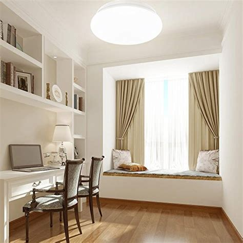 Flush Ceiling Lights Living Room Le 18w 14 Inch Daylight White Led Ceiling Lights 120w Incandescent 40w Fluorescent Bulb