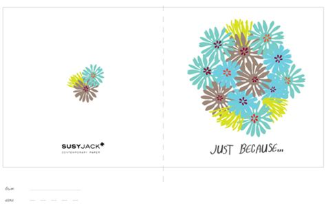 just because greeting card template the petit cadeau free printables at susy