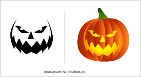 pumpkin carving patterns  coloring page