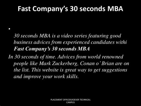 Fast Company S 30 Second Mba bored of reading magazines and feeds