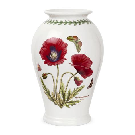 Poppy Vase by Portmeirion Botanic Garden Poppy Canton Vase Portmeirion Uk