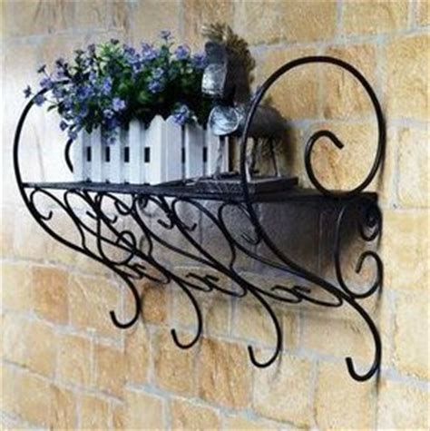 wrought iron stands bathroom shelf wall mount