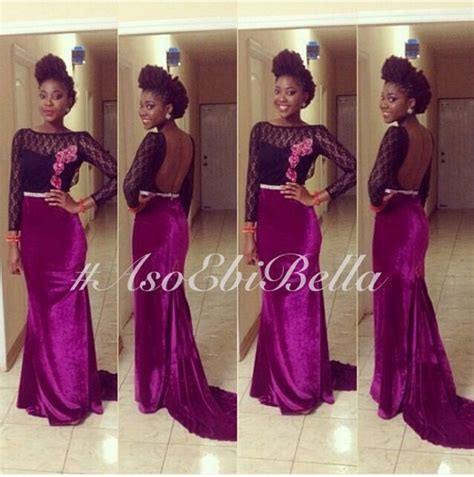 bella naija styles velvet aso ebi ankara lace styles pinterest velvet