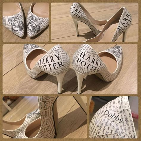 Shoe Decoupage - harry potter decoupage shoes wedding shoes harry potter