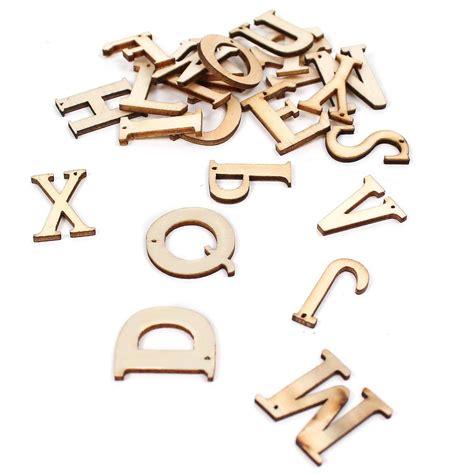 Decorative Wooden Letters by Wooden Letters 26 Pieces Hobbycraft
