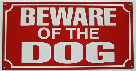 beware of the beware of the enamelled steel wall sign 230mm x 120mm dp