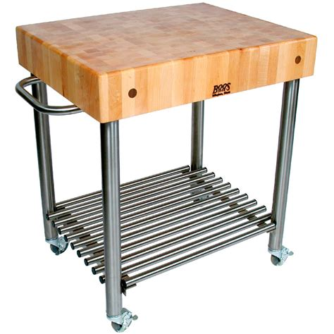 Stainless Kitchen Islands Butcher Block Kitchen Cart In Kitchen Island Carts