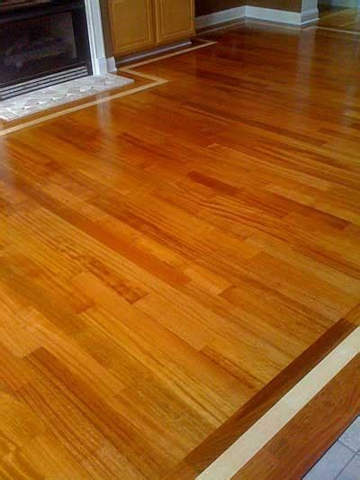 Green Step Flooring: Brazilian Cherry with Maple border