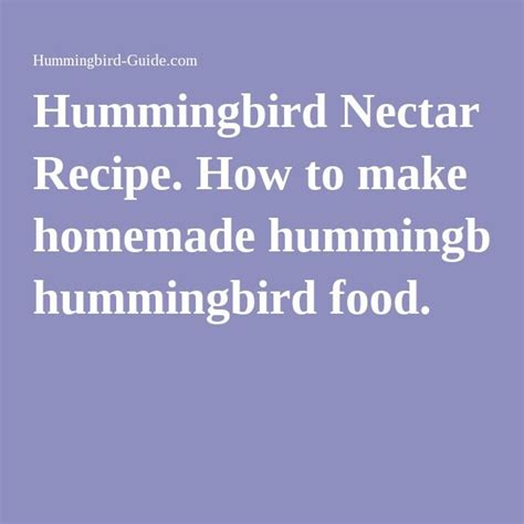 1000 ideas about homemade hummingbird food on pinterest