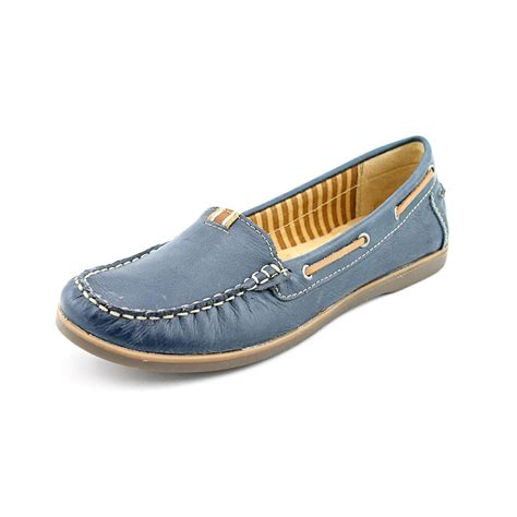 womens loafers narrow width naturalizer hanover womens size 7 blue narrow leather