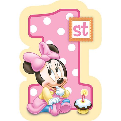 Minnie Mouse Birthday Giveaways - baby minnie mouse first 1st birthday invitations birthday favors party supplies ebay
