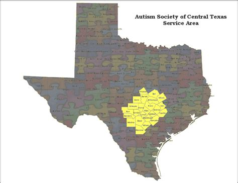 map of central texas counties the autism society of central texas autism society of texas
