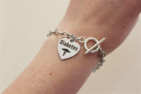 diabetic alert diabetic bracelet silver alert bracelet for diabetes diabetes alert