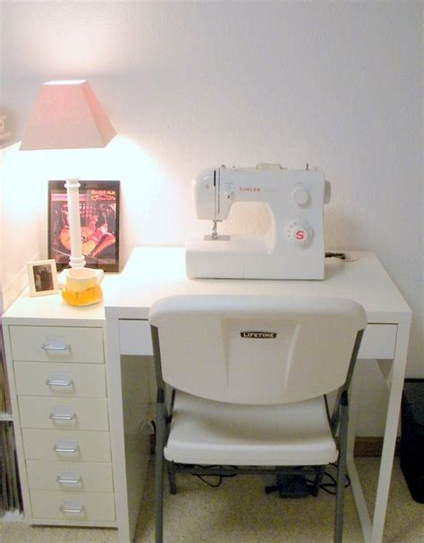 ikea sewing desk and storage for the home